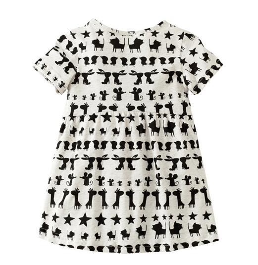 Toddler Enfants Filles Catoon Robe Chemise de nuit Summer Sundress Casual Party Vêtements