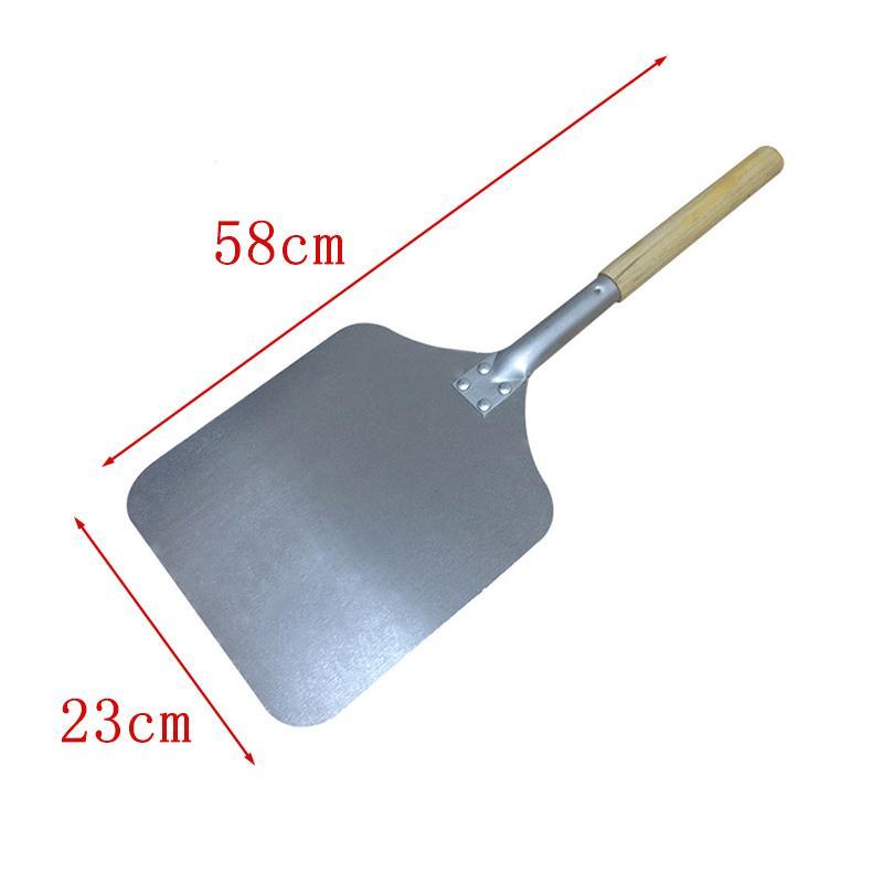 58cm Wood Aluminum Pizza Peel Square Kitchen Pizza Lift Shovel Pizza Cake Turner Spatula Kitchen Baking Pastry Tools Small Size