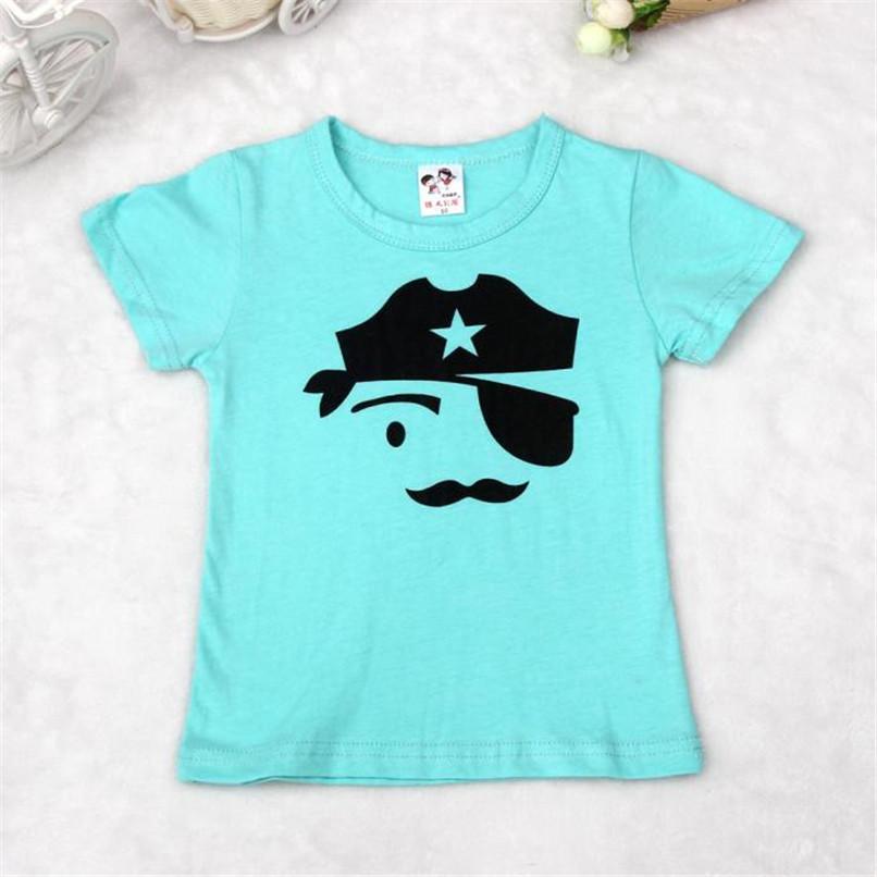 Summer Children Boy Kid T-Shirt Lovely Face Short Sleeve Tops O Neck T-Shirt Tees NDA84L16 (2)