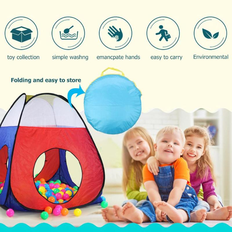 Baby Game House Tenda per bambini FoldableToy Bambini casa di plastica Gioco Gioca Tenda gonfiabile Piscina con palline Scivolo tunnel di Chilren