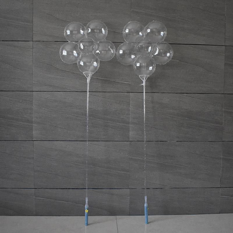 5 modalità LED BOBO Palloncini Plum Flower Shape Chiaro BOBO Balls Flash Spumanti con manico Stick 18 pollici PVC Balloons matrimonio 2019