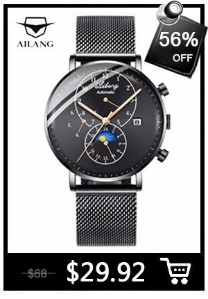 9cfc9c31b93b Remarks  (Blue watch is darker than picture). AILANG Design Brand Automatic  Swiss Watch Men Bijou Pilot Reloj Mechanical ...