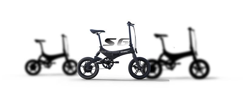 Portable Electric Scooter 250W 36V Two Wheel Electric Bicycle 16'' WhiteBlackOrange Foldable E Bike Max Range 50KM (18)