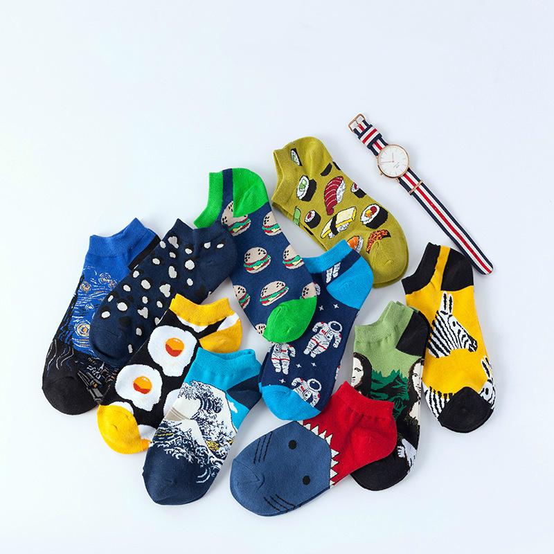 Mens black unicorn white rainbow compression sweat-absorbent crazy socks soccer ho calf socks