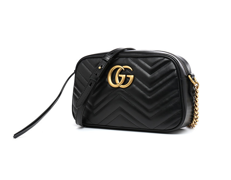 19 spring and summer GUCCI / Gucci GG Marmont series quilted cow leather ladies diagonal shoulder bag 447632DTD1T