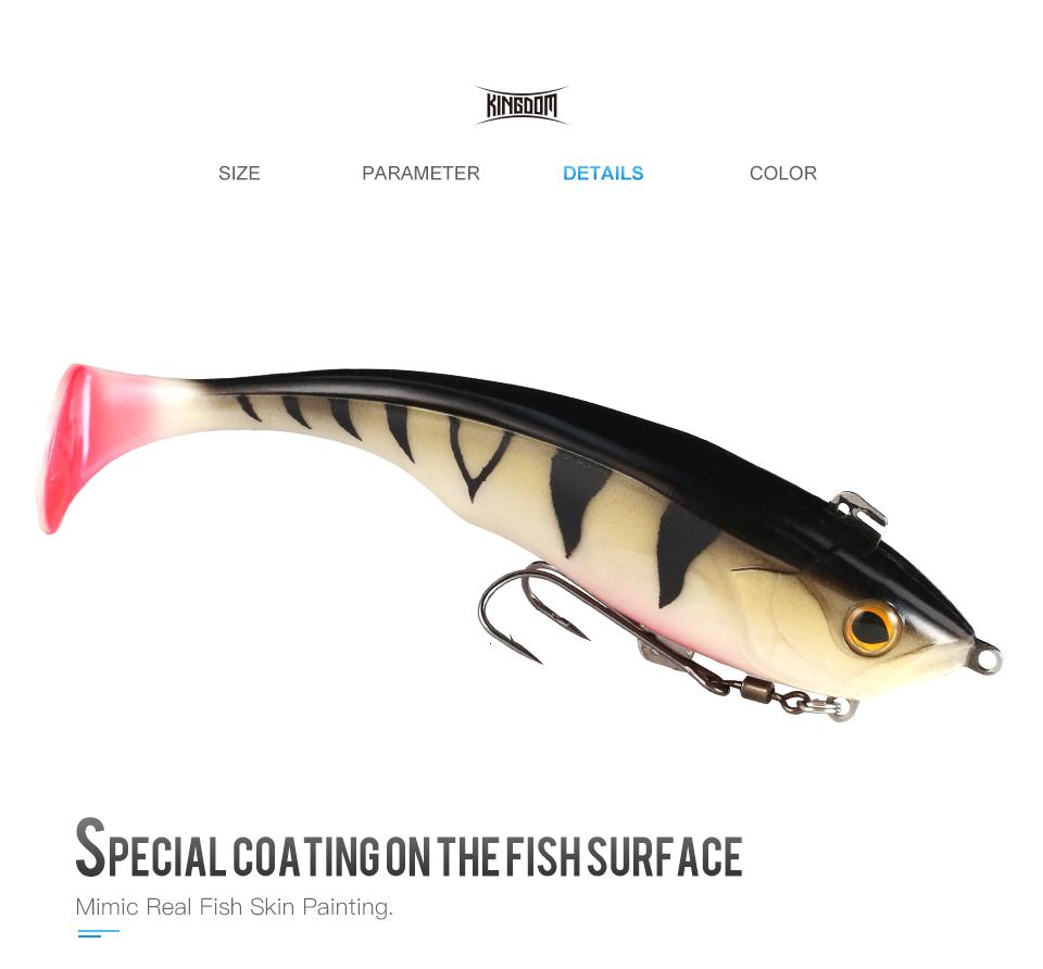 Kingdom Hot TSUNAMI Soft Baits Swim Shad Double Hook Fishing Lures 170mm 55g Good Action Saltwater Swimbaits Fishing Soft Lure (6)
