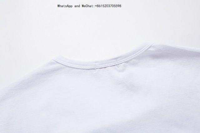 T-shirt manica corta da uomo di colore puro estivo uomo T-shirt da uomo