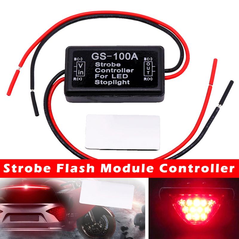 Bremsheckbremsleuchte Controller High Bremslichtregler Brems Flasher Bremsleuchte-Controller Strobe-Flash-Modul-Controller