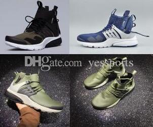 2018 pas cher High Street Fashion Acronyme X Casual Chaussures Olive Vert Noir Taille 7 10 Vente en gros de chaussures de training Drop Shipping 2017 Nouveau