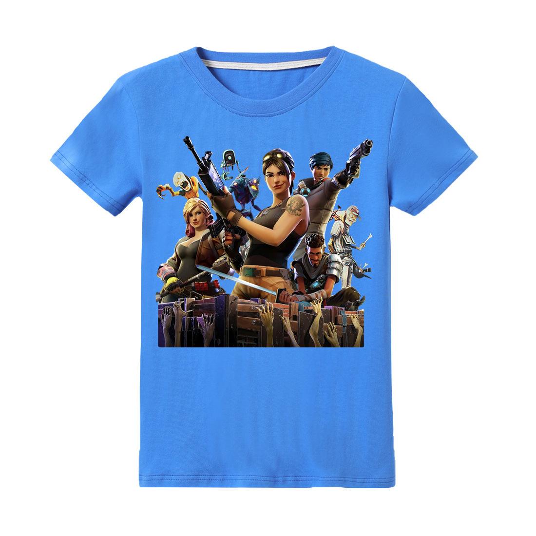 Niños Fornite Boy Camiseta Ropa de Verano Niños 100% Algodón Camisetas de Manga Corta Camisetas Juego Quincena de Dibujos Animados Adolescente 6-14y Ropa J190427