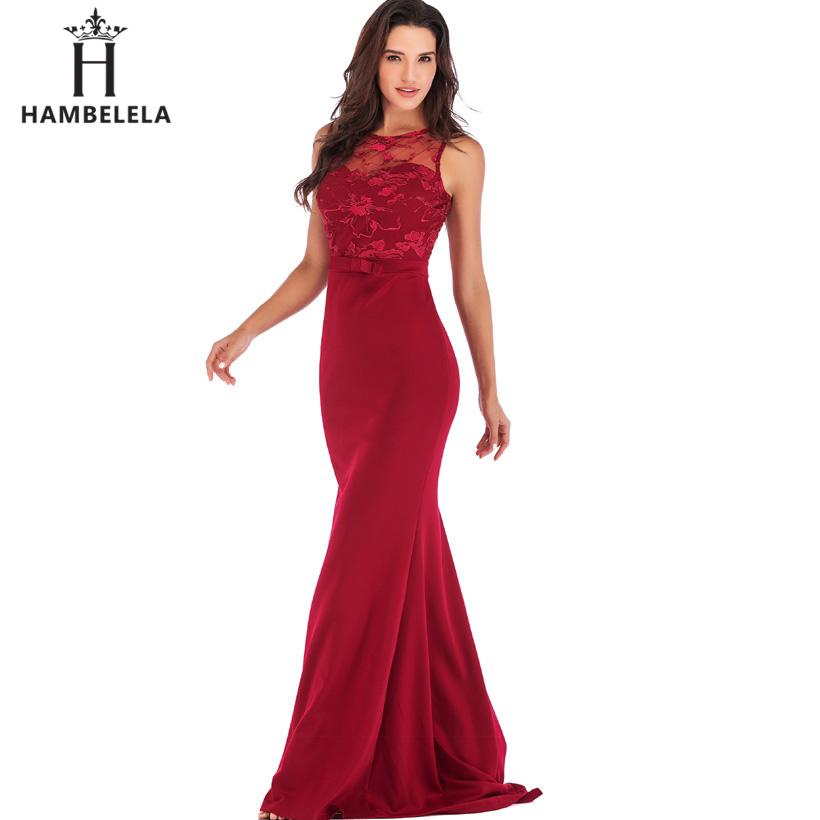 HAMBELELA Long Maxi Backless 2019 Women Dress Summer Evening Party Dresses Sexy O-Neck Elegant Floral Lace Dress Vestidos Longo (12)