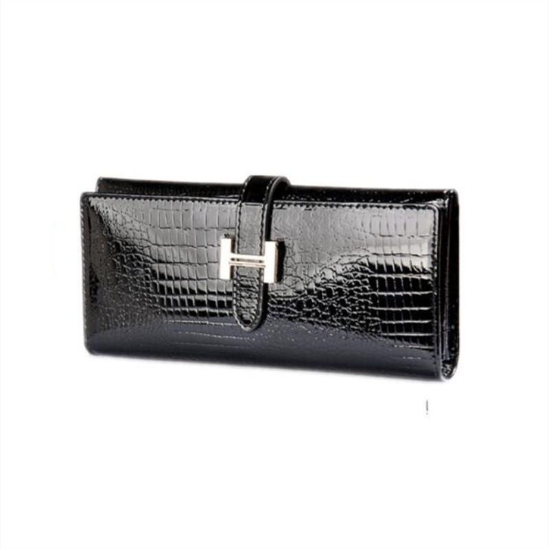 Petite peau de crocodile motif brevet Style Lady/'s Fashion Purse