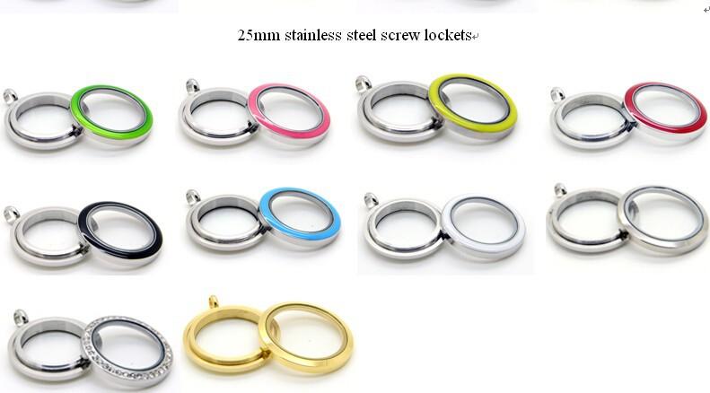 25mm stainless steel screw lockets