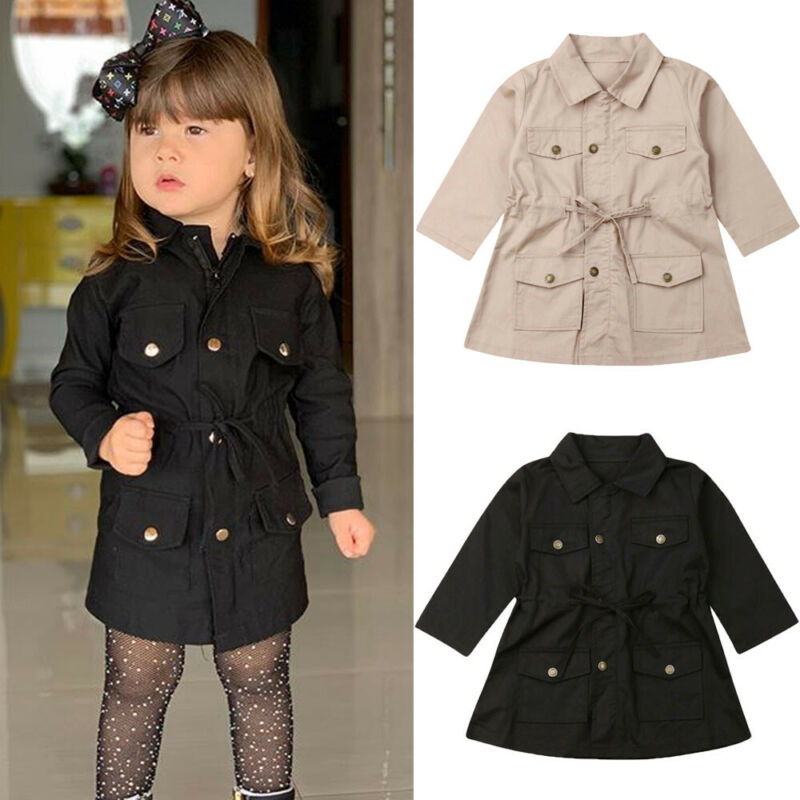 Collager Toddler Baby Girls Splicing Collar Coat Winter Warm Thick Outwear