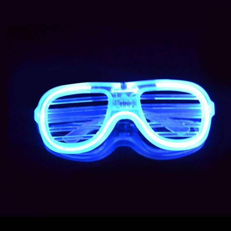 New Arrival Funny Baby Kids Novelty Glass Toys Led Flashing Shutter Glasses Glowing Blind Glasses Led Funny Tricks Toy