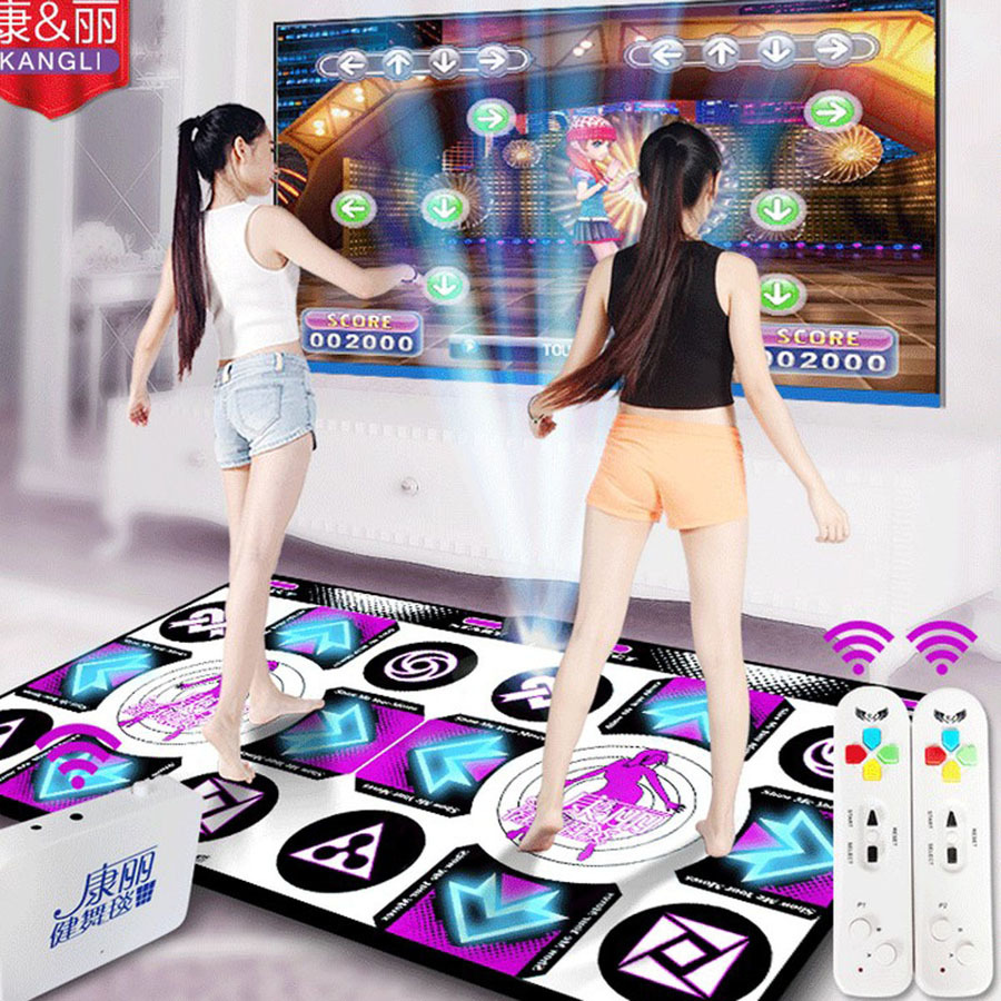 HOT-2017-KL-English-menu-Flash-light-guide-11-mm-thickness-double-dance-pad-mat-two
