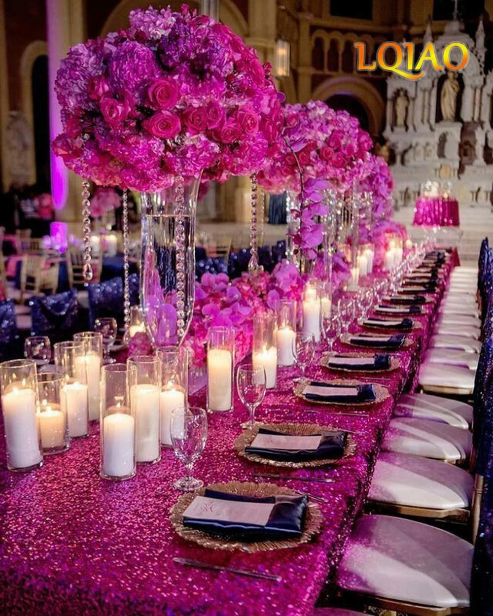 Fuchsia Sequin Tablecloth