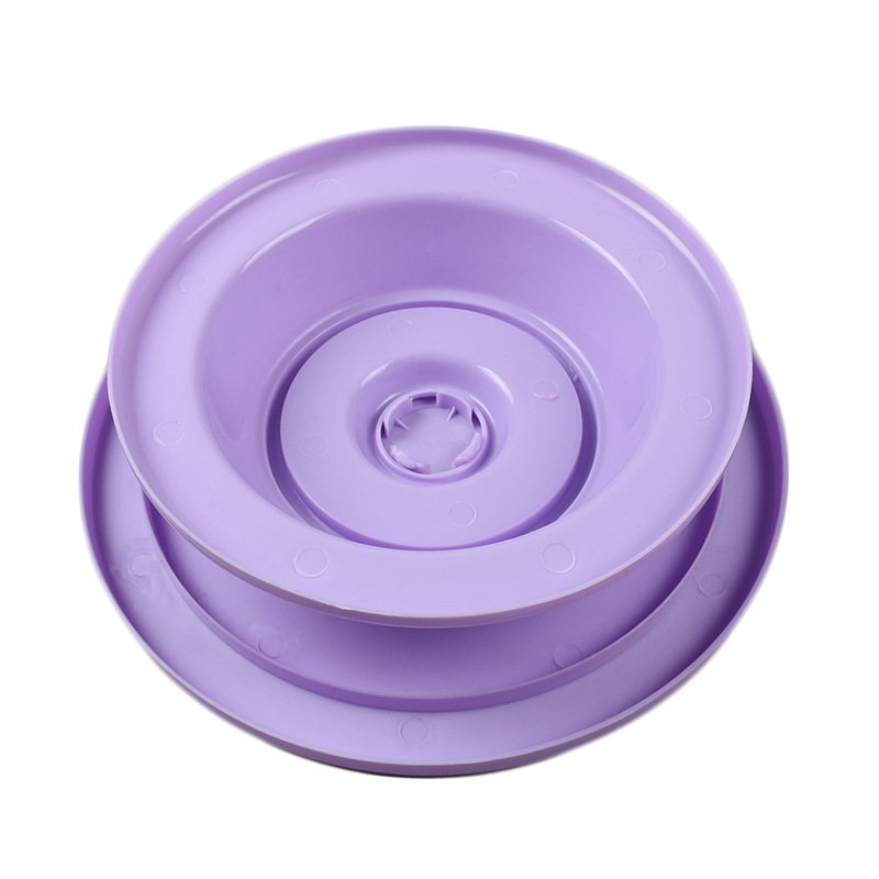 Diy Plate Player Bake Tool Plastic Cake Plate Plate Player Rotating Anti -ski Round Cake Stand Cake Decorate Rotary Table Kitchen
