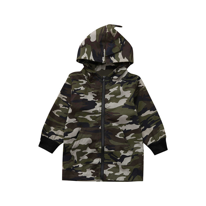 Winter Coat For Kids Toddler Kids Baby Boy Camouflage Long Sleeve Dinosaur Hooded Windproof Tops Coat Clothes Kids Clothes O10#F (2)