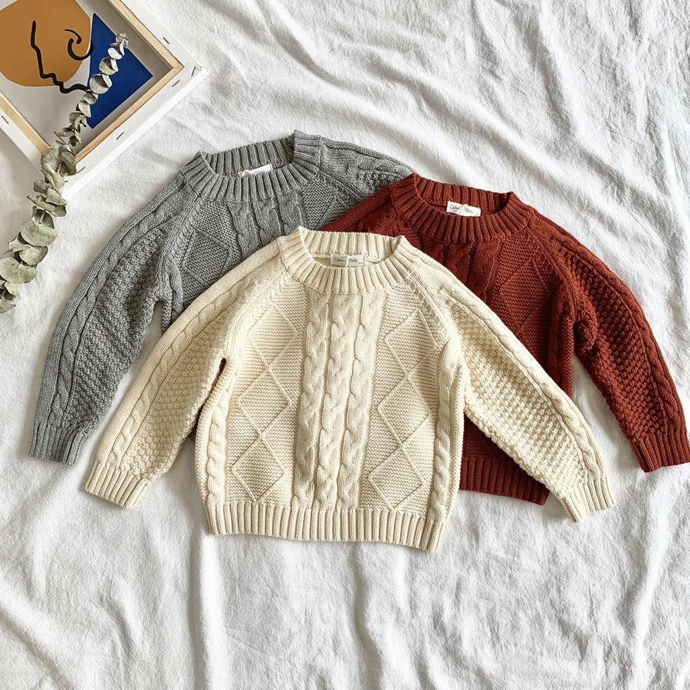 Bébé Enfant Garçons Filles Vêtements en Tricot solide Pull Cardigan Manteau Ange Tops