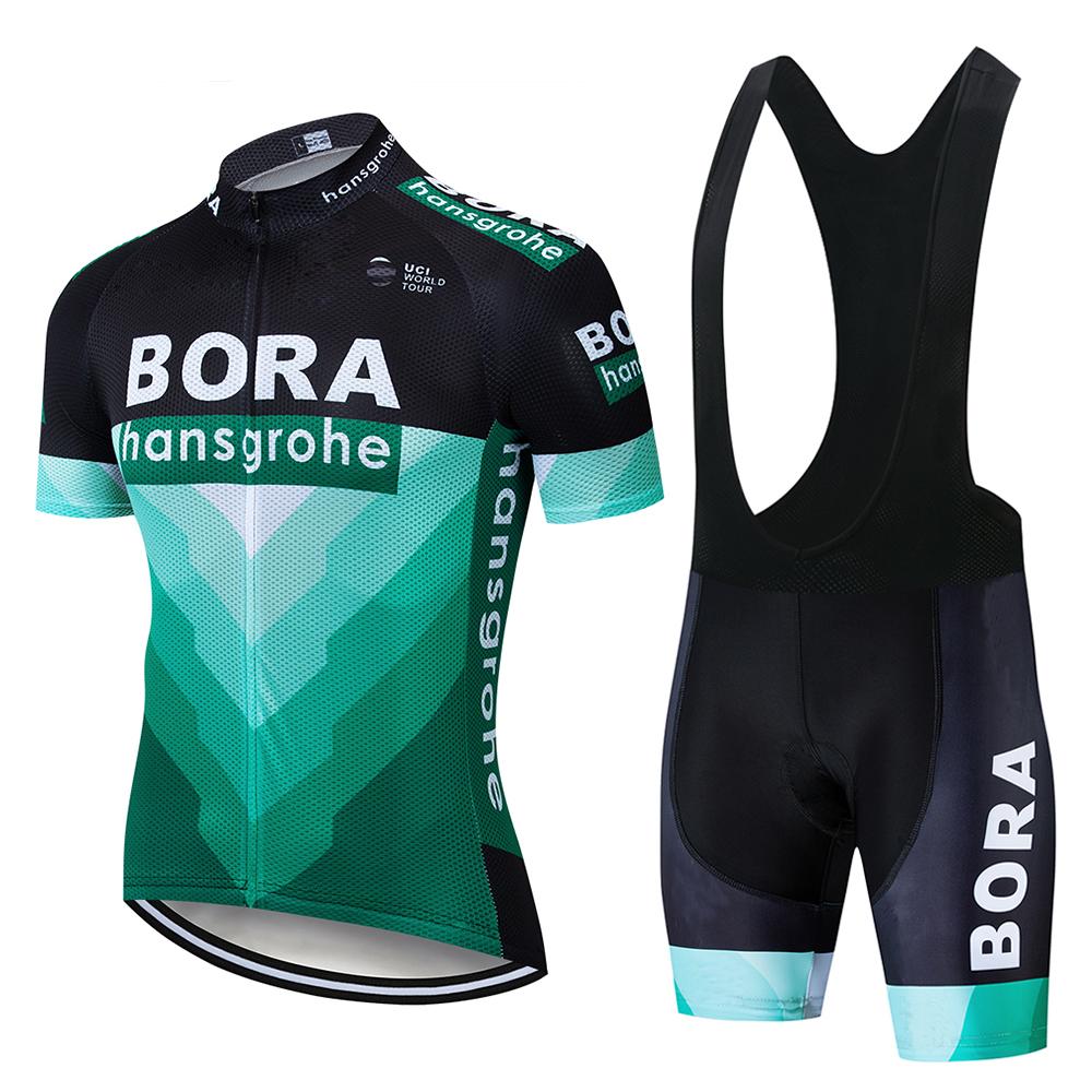 Cycling Jersey Bicycle Shirt Bib Short Kit Set Sleeve Bike MTB Jacket Bora Team