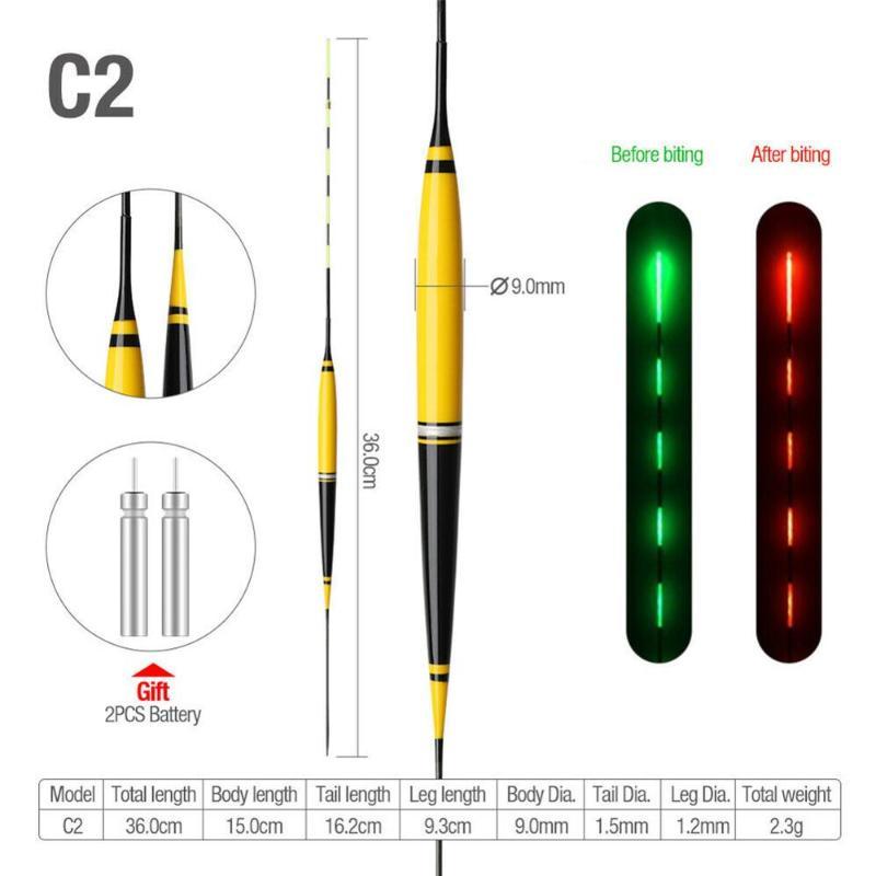 1 Stück Elektronische Schwimmer LED Float Leucht Schwimmer Nacht Angelgerät