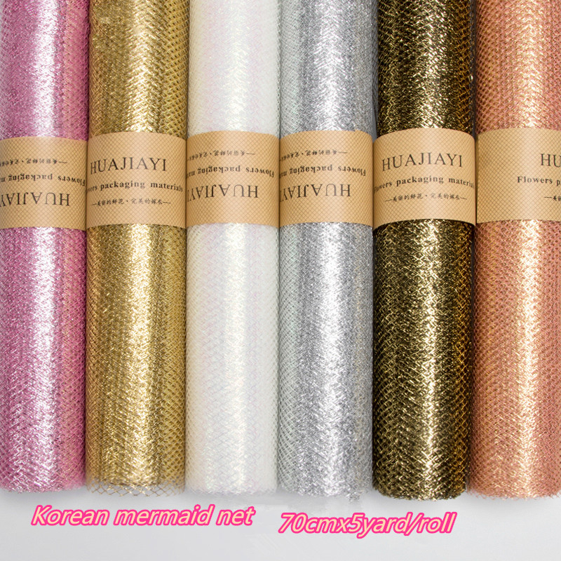 Mermaid Gauze Mesh Tulle Roll Fabric Spool Craft Tulle Fabric Wrapping Paper Wrap Gift Gift Wedding Party Decoration