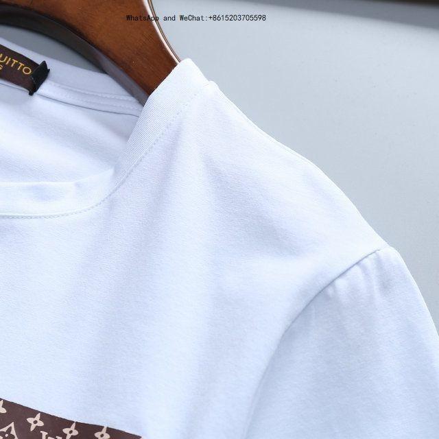 Novo Padrão Verão Edição Coreana Slim Man Manga Curta Camisetas Fino Assentamento Blusas Maré Desgaste dos homens tshirts marcas 0308