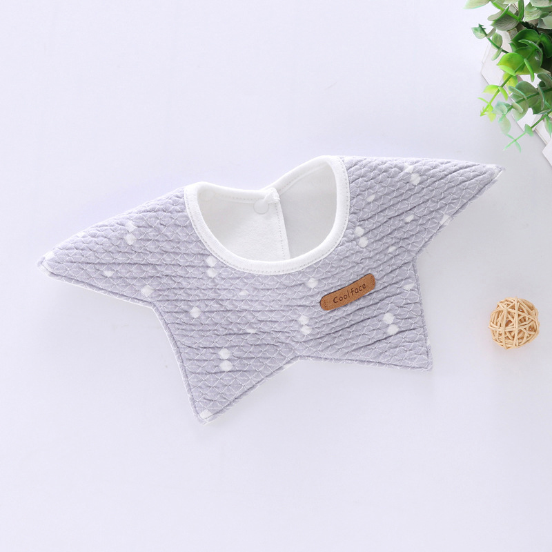 100% Cotton Waterproof Baby Bibs Fashion Round Neck Baby Girls Bibs 360 Degree Flower Star Bib For Girls Baby Girls Clothing (12)