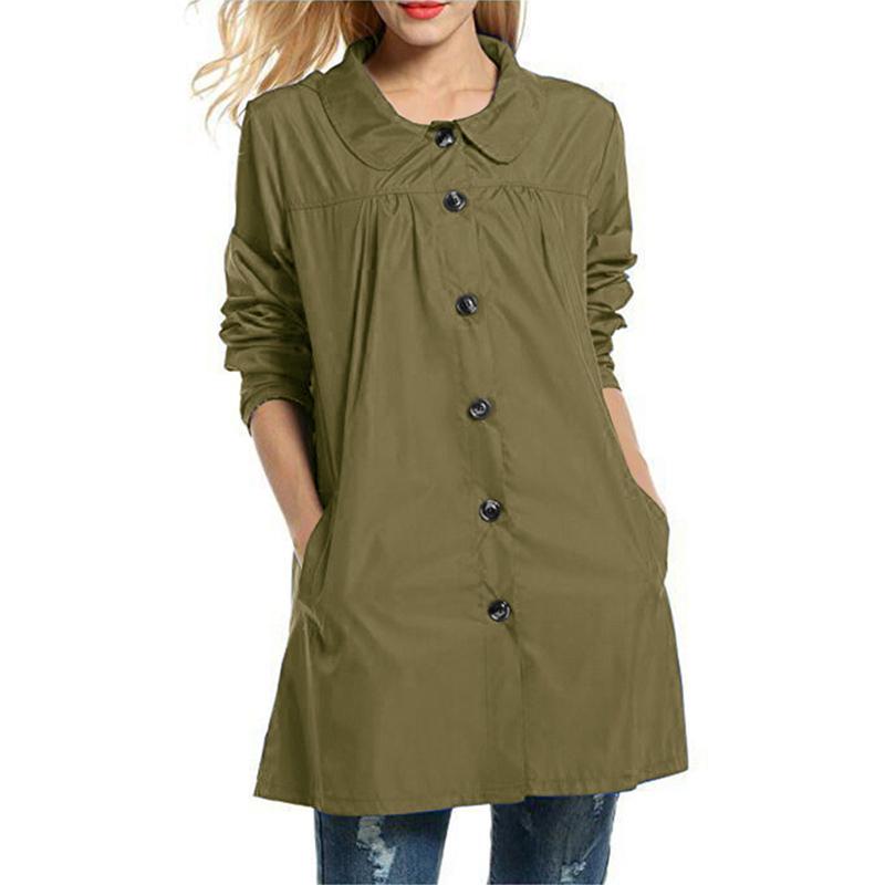 Heflashor Nice Long Hooded Raincoat Women Solid Waterproof Windproof Outdoor Ladies Jacket Coat Ponchos Casual Jackets Female