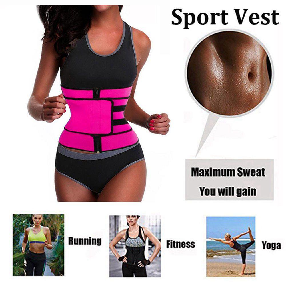Waist Trainer with Zipper Modeling Strap Women Tummy Shaper Body Shapewear Steel Boned Slimming Belt Neoprene Weight Loss Corset