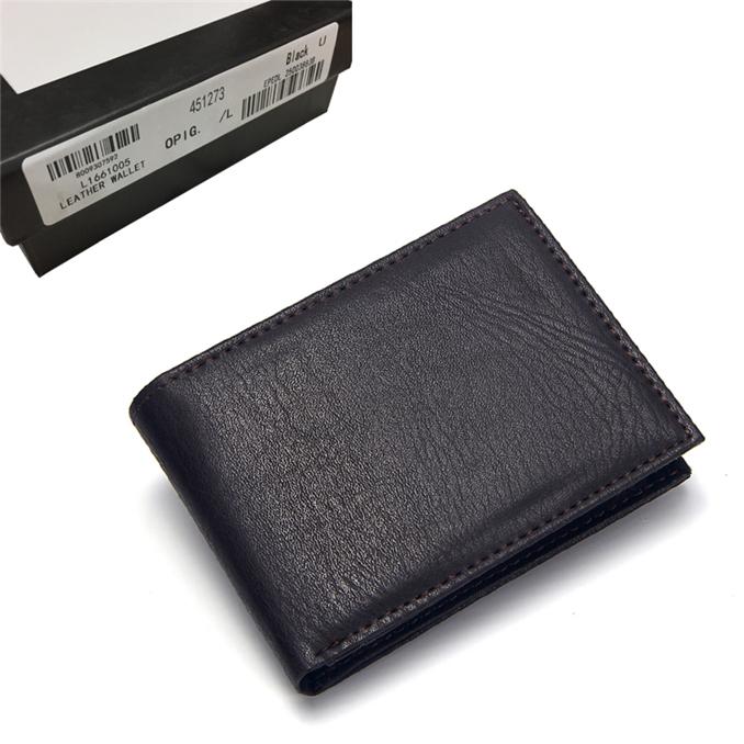 Luxe cadeau-coffret cuir mini magic portefeuille//carte de crédit titulaire noir
