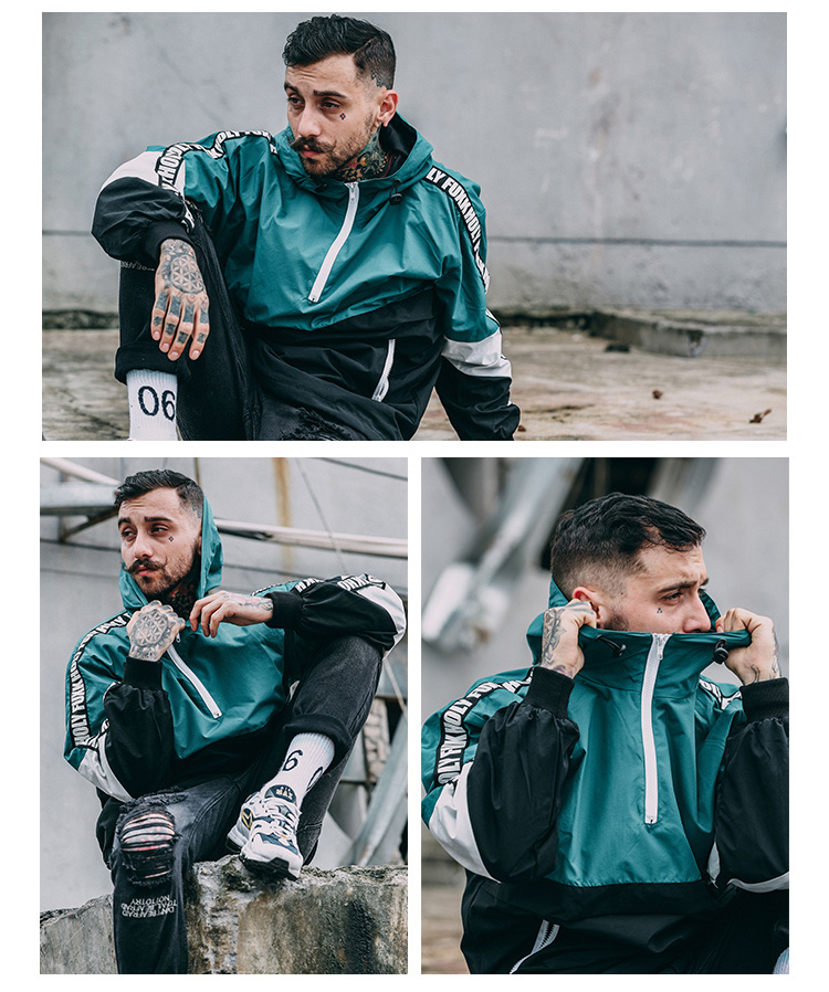 Aolamegs Men Hoodies Fashion Harajuku Loose Hoody Tops Windbreaker Youth Couple Contrast Color Hip Hop High Street Wear Pullover (12)