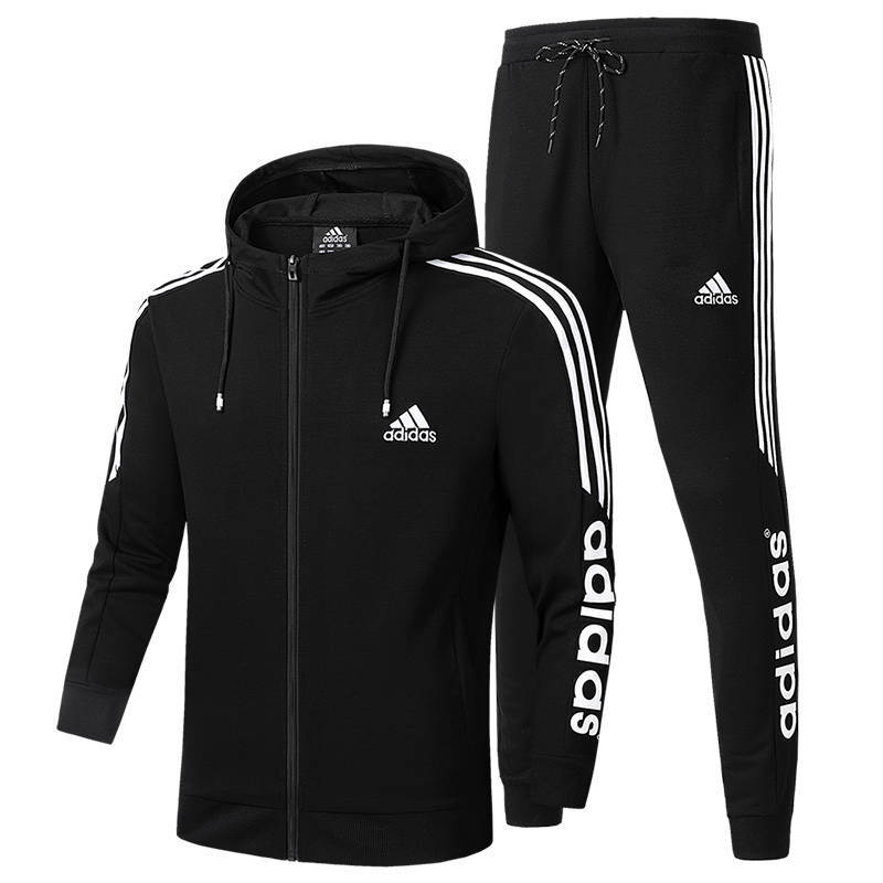 Mens Casual Pullover Maglione Tute Coulisse Cerniera Sport Tute Pantaloni Jogging Uomo Running Training Track Set