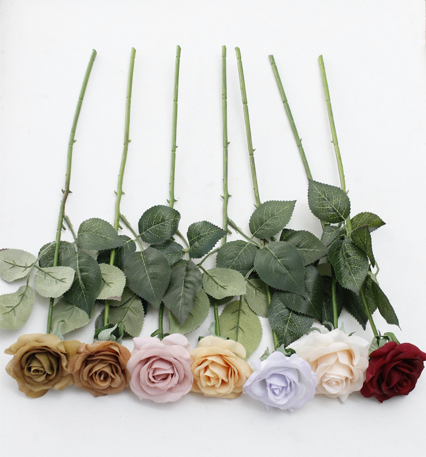 Rose Artificial Flower Bouquet wedding flowers silk peony home party decor (11)