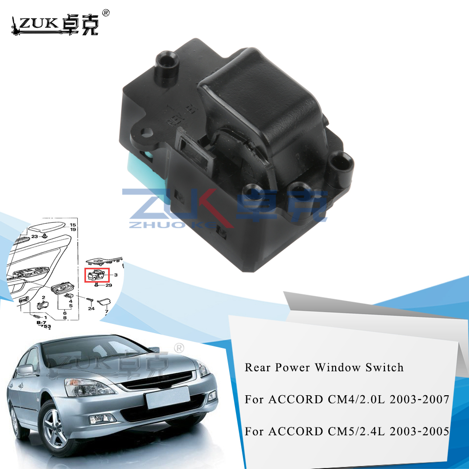 KIMISS Left Driver Side Power Master Window Control Switch Button for 2006-2010 35750-SNV-H51