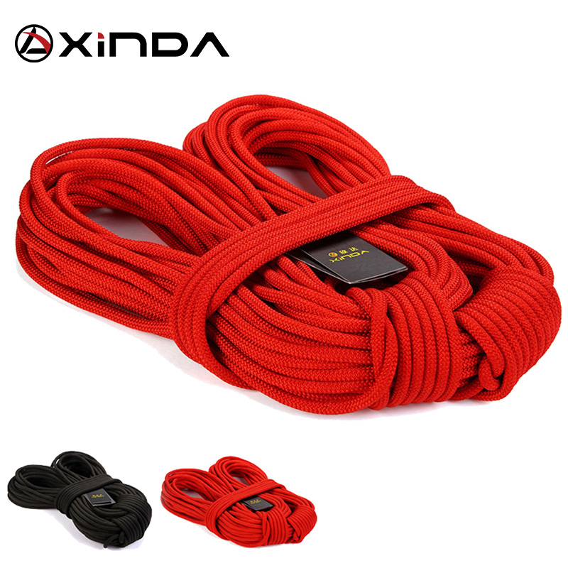 Color : Black, Size : 30M 11 Sizes Ropes 3 Colors Jingdun Wire Rope Outdoor Climbing Rope Auxiliary Rope Family Emergency Standby Safety Lifeline High-Rise Building Drop Rescue Rope 8mm