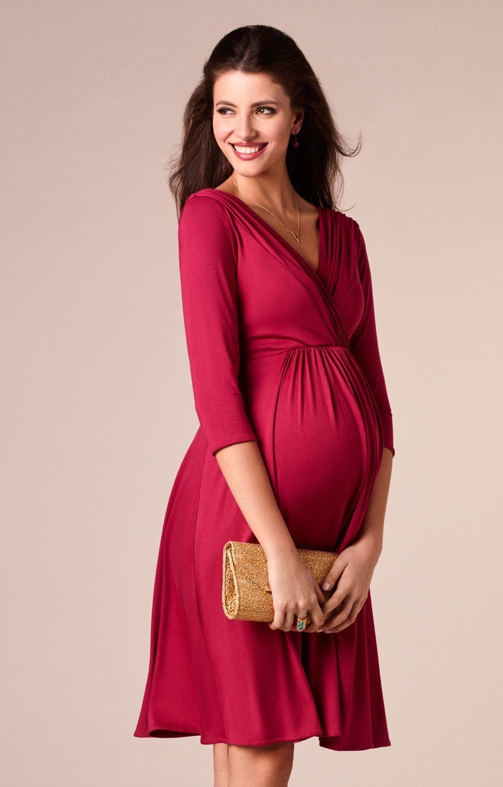 bca755132c969 Enxi Christmas Pregnant Women Evening Party Dress Elegant Summer Lady Dress  Maternity Clothes Plus Size V-neck Maternity Dresses Y19051804
