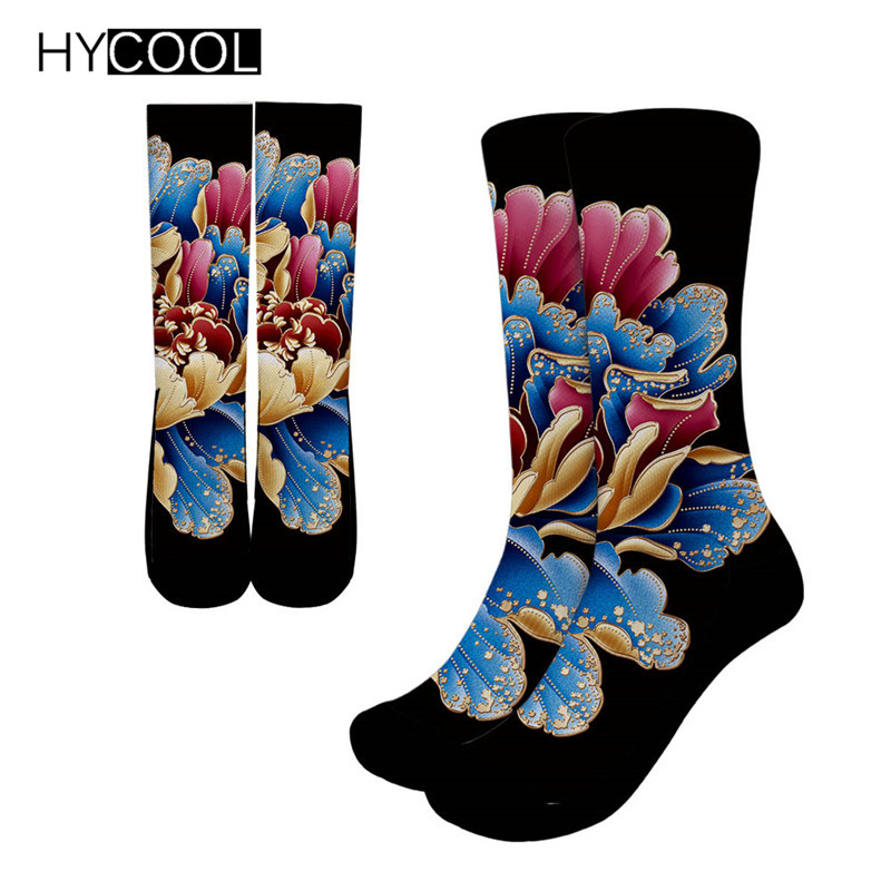 Fox Flowers Unisex Funny Casual Crew Socks Athletic Socks For Boys Girls Kids Teenagers