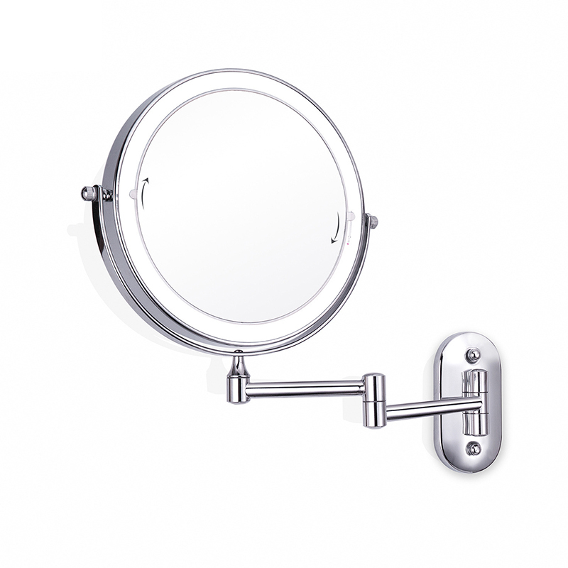 8 inch Wall Mounted Led Makeup Mirror 10X Magnifying Touch Bright Adjustable Bathroom Wall Mirrors Double Sided Vanity Mirror 04