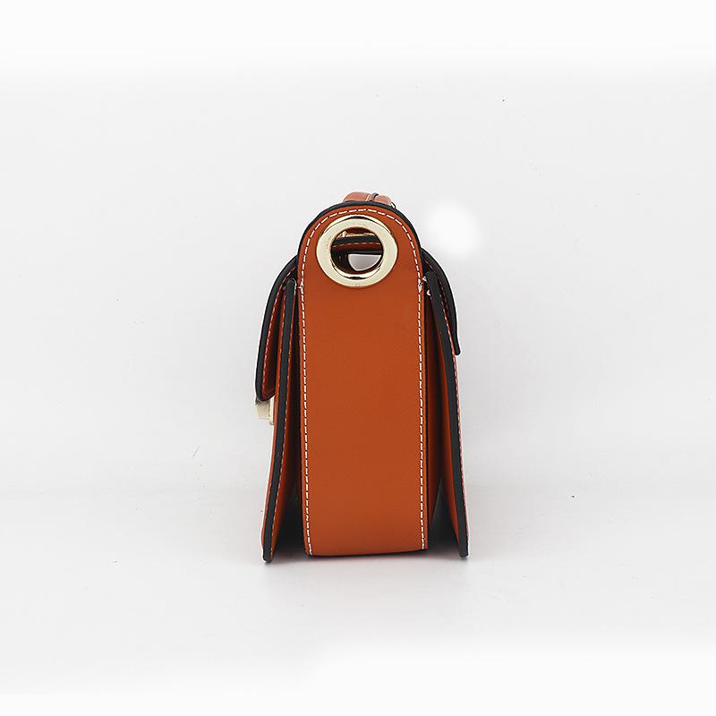 Individual2019 Mujer Paquete pequeño bolso de cuero genuino de dos capas bolso de cuero de vaca