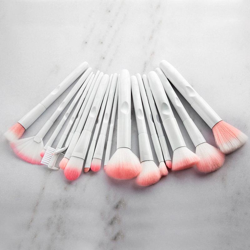 17pcs white makeup brushes (10)