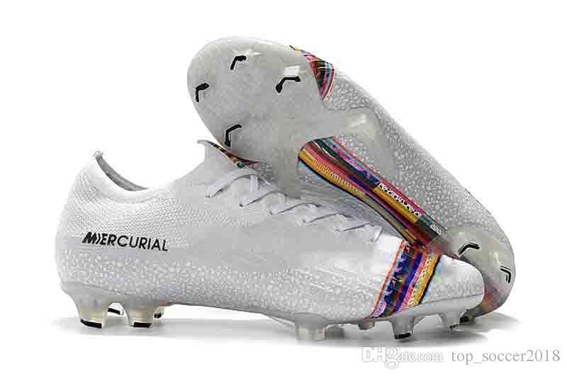 Mercurial Superfly VI 360 Fury VII Elite FG Soccer Shoes Black Lux Neymar 12 Soccer Cleats Game Over C Ronaldo Superfly CR7 Football Boots