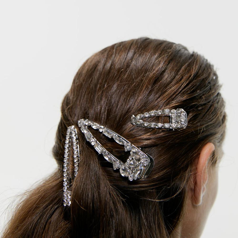 Mode Frauen hohles Blatt Haarspange Haarclips Haarklemme Kopfschmuck Gold
