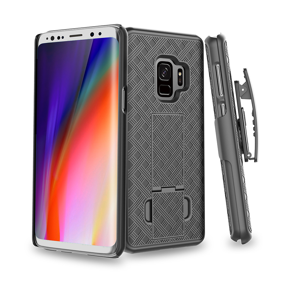 Armor Phone Case For Samsung S10e S10 S9 Plus Case Full Protection Stands Belt Clip Cover For Samsung Galaxy S9 S10 Plus Cases