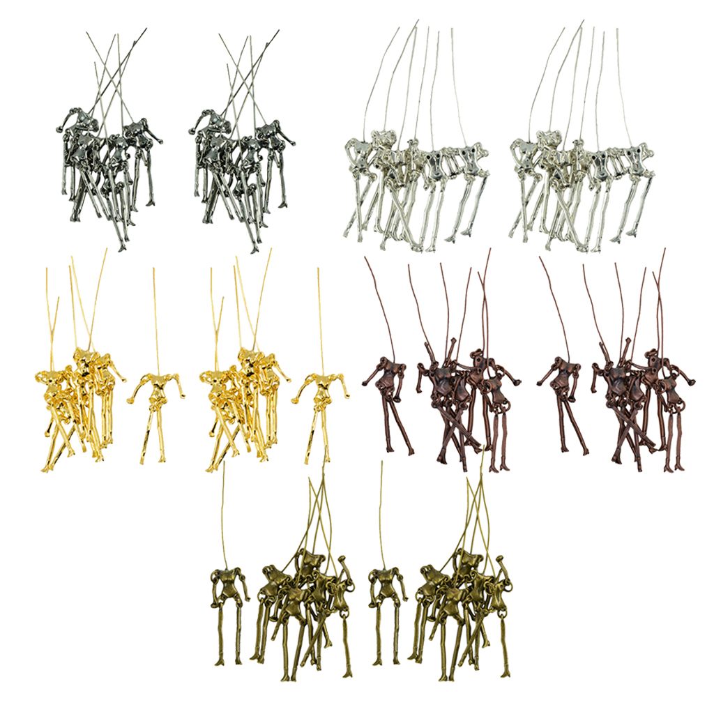 60 Sets Mixed Retro Charms Skeleton Body Doll Pendants for DIY Jewelry Findings Fit Necklace Bracelet Girl\`s Earrings Doll Craft