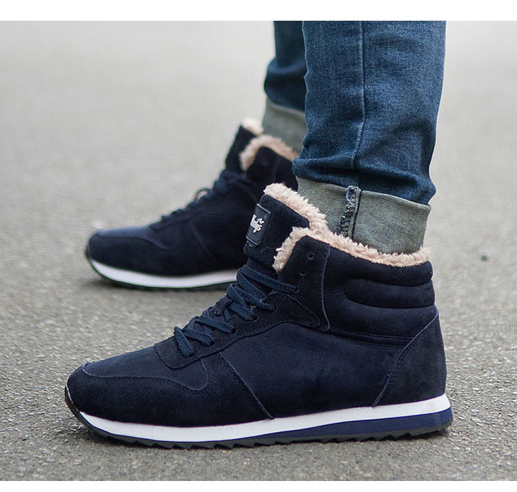 Ankle Boots 2018 Break Out Men Boots For Snow Winter Boots for Men Shoes Warm Short Plush Fur Winter