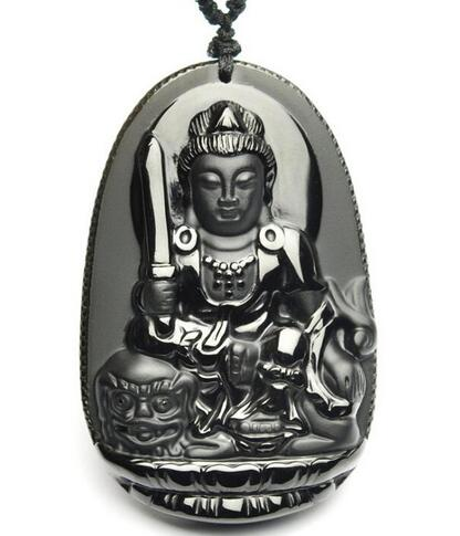Chinese tibet Silver carve kwan-yin lotus amulet woman pendant Collectible
