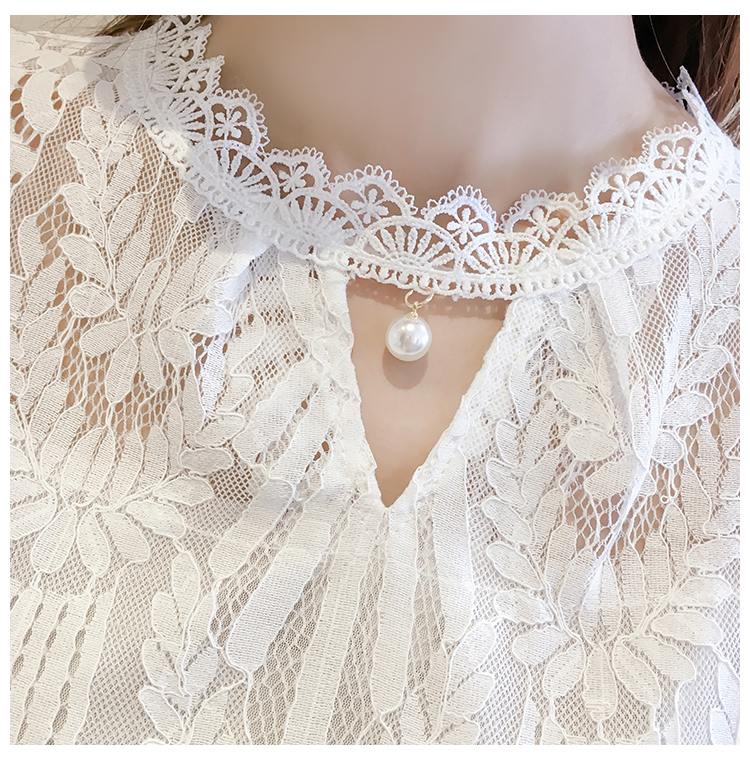 Moda Kadın Bluzlar 2019 Kısa Kollu Yaz Bayan Üstleri Hollow Dantel Kadın Bluz Gömlek Blusas Femininas Kadınlar Gömlek