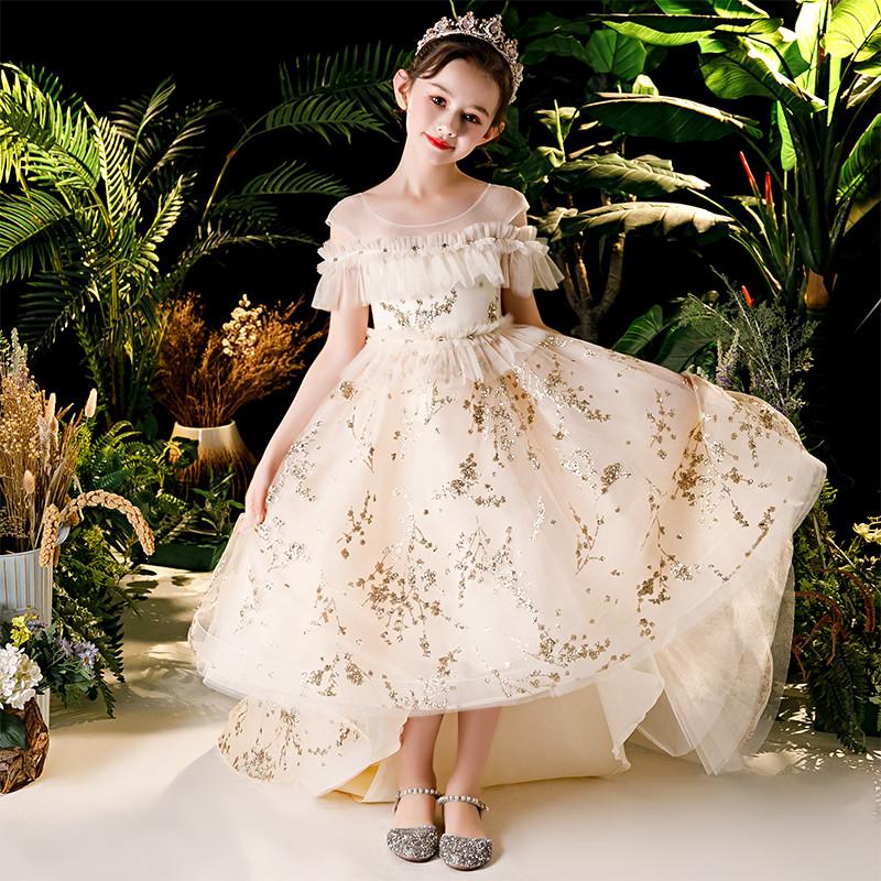 Noble Viola Ragazze Bambini Fiore Vestito Collezione Matrimonio Damigella D/'onore Princess